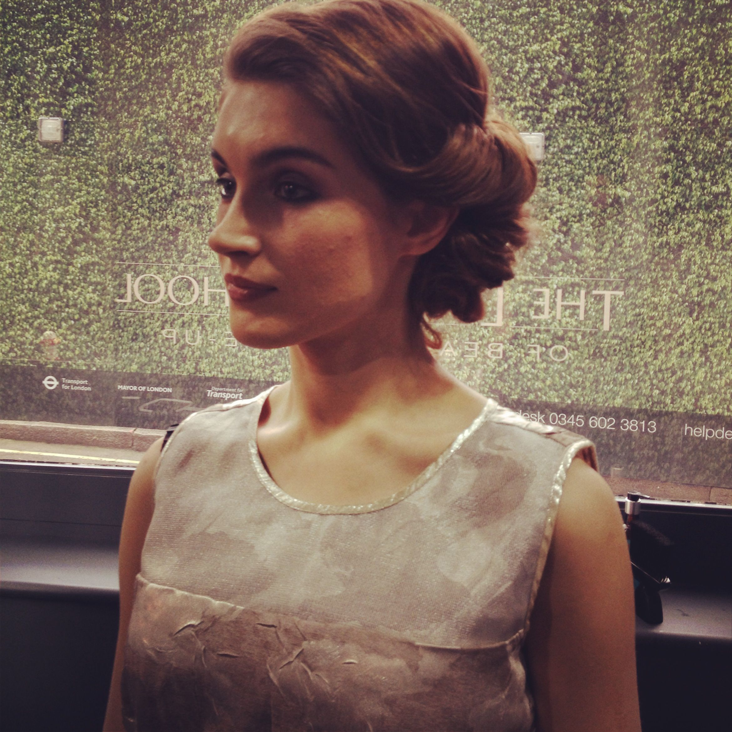 Updo Vintage Style The London School Of Beauty Make Up Hair