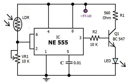 Automatic ‪#‎EmergencyLight‬ Circuit is a battery-backed