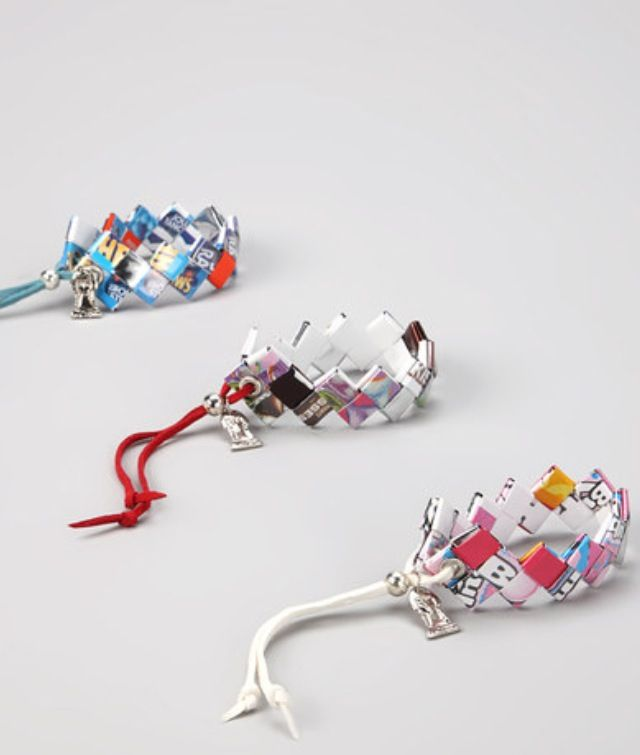 how to make bracelets out of candy wrappers