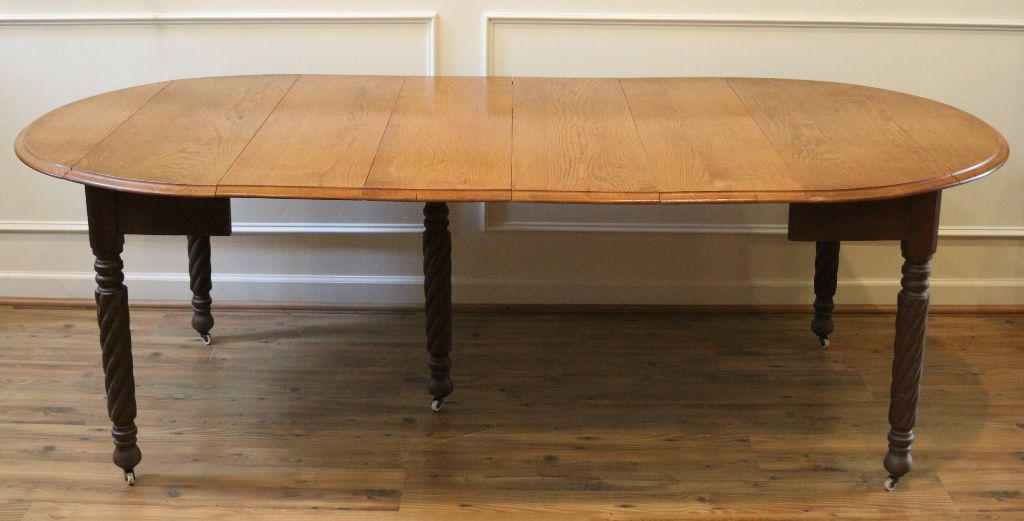 Antique Dining Table American Oak Round Drop Leaf Extending From Streetsoflondonantiques On Ruby Lane