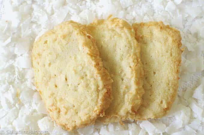 Coconut Shortbread Cookies #sliceandbakecookies