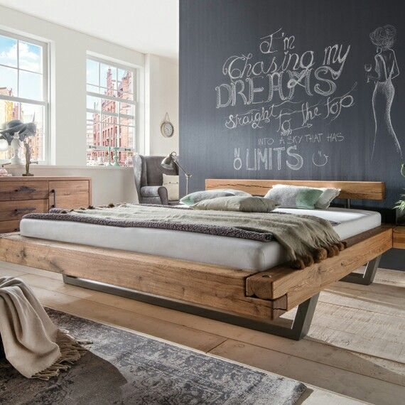 zwevend balken bed | industrial design | pinterest | beds - Dream Massivholzbett Ign Design