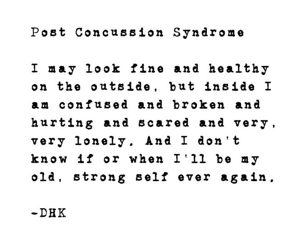 Post Concussion Syndrome And Me These Are The Words That