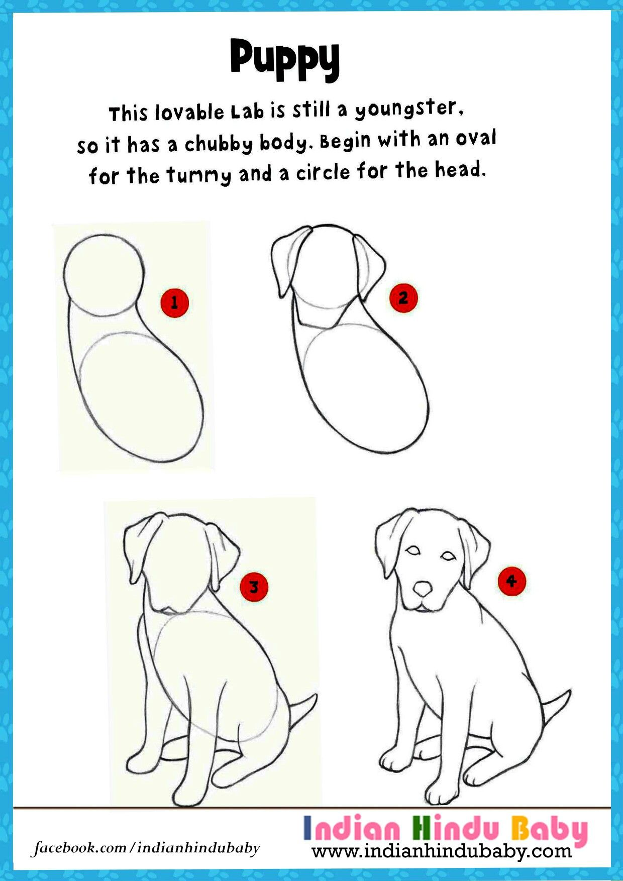 Teach Your Kid To Draw And Paint Their Most Lovely Pet Puppy