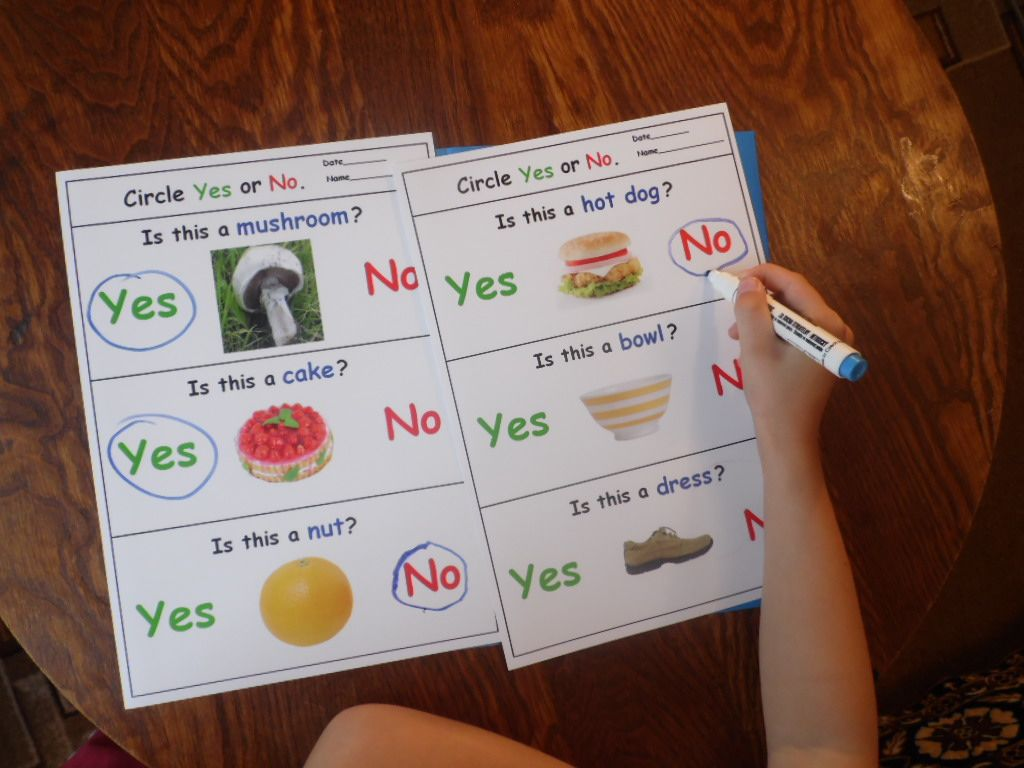 Yes No Questions For Speech Therapy Autism