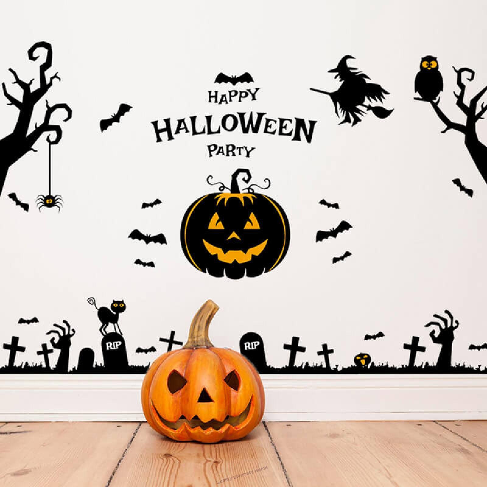 4d Embossed Stickers Halloween Decoration 3d Wall Stickers Ktv Theme Wallpapers Halloween Decorations For Kids Halloween Interior Decorations Wall Stickers Home Decor