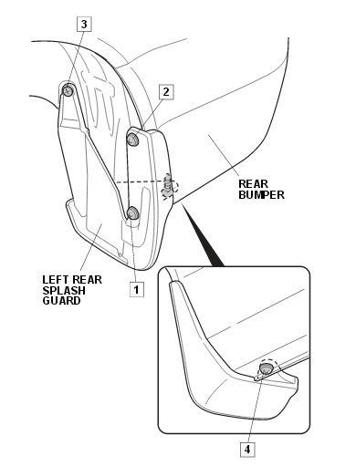 Splash Guard Installation Instruction Pdf For The Acura 2013 Tl