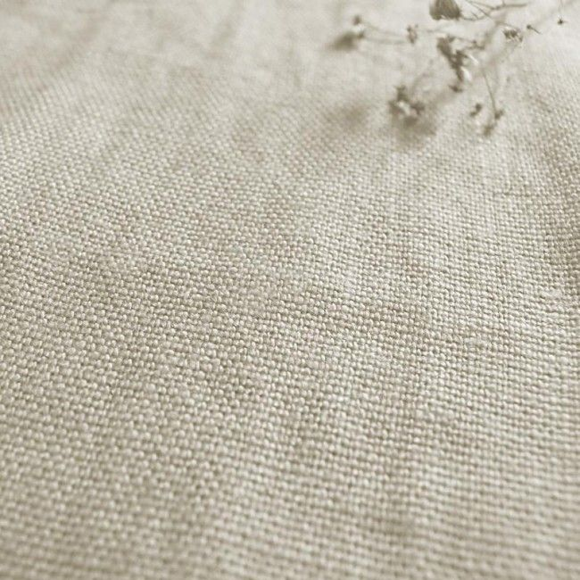 Greta Oatmeal Natural Linen Upholstery Fabric For Sofas And Chairs
