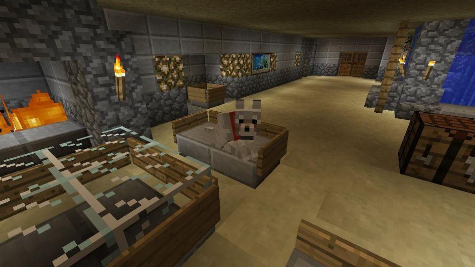 minecraft living room idea | Living room in minecraft ...