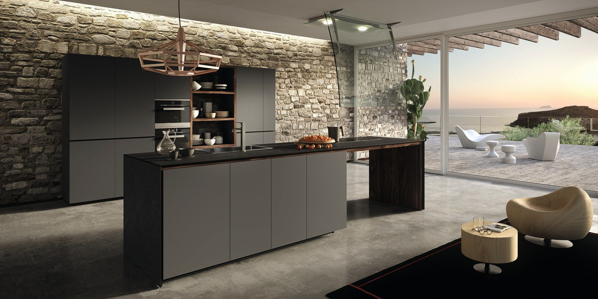 Moderne Küche Im Chalet Functionality Ergonomics Sustainability Valcucine At Imm Genius