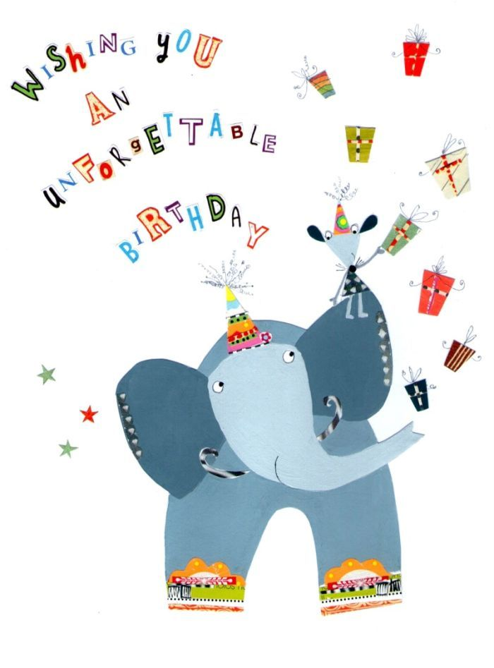 Happy Birthday Elephant Kids Wishes Greetings Special