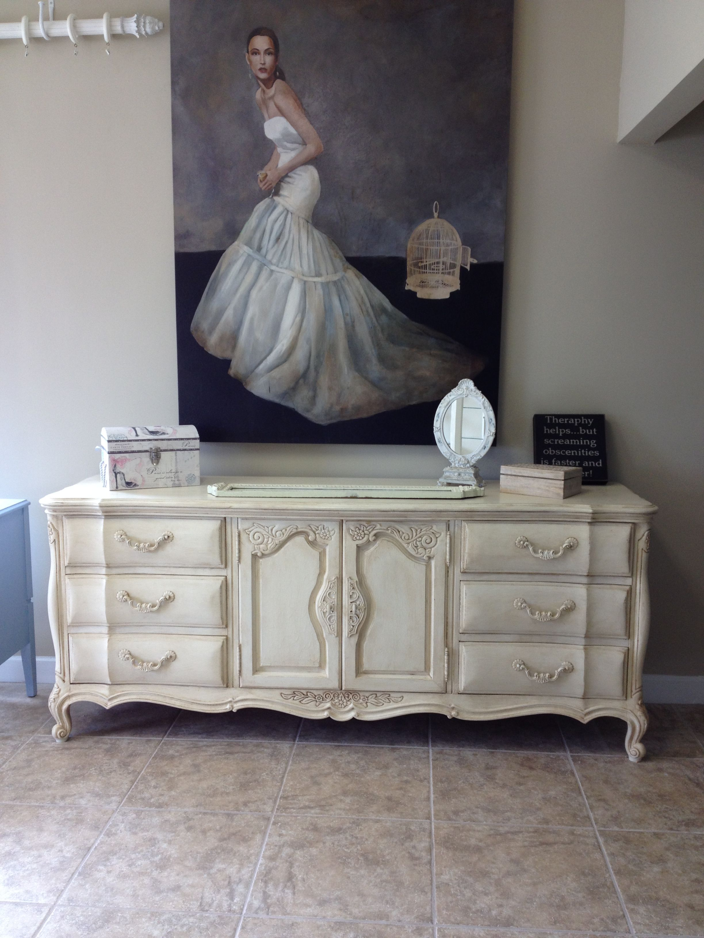 French Provincial Dresser With Nine Dovetail Drawers By National Furniture Co In Mt