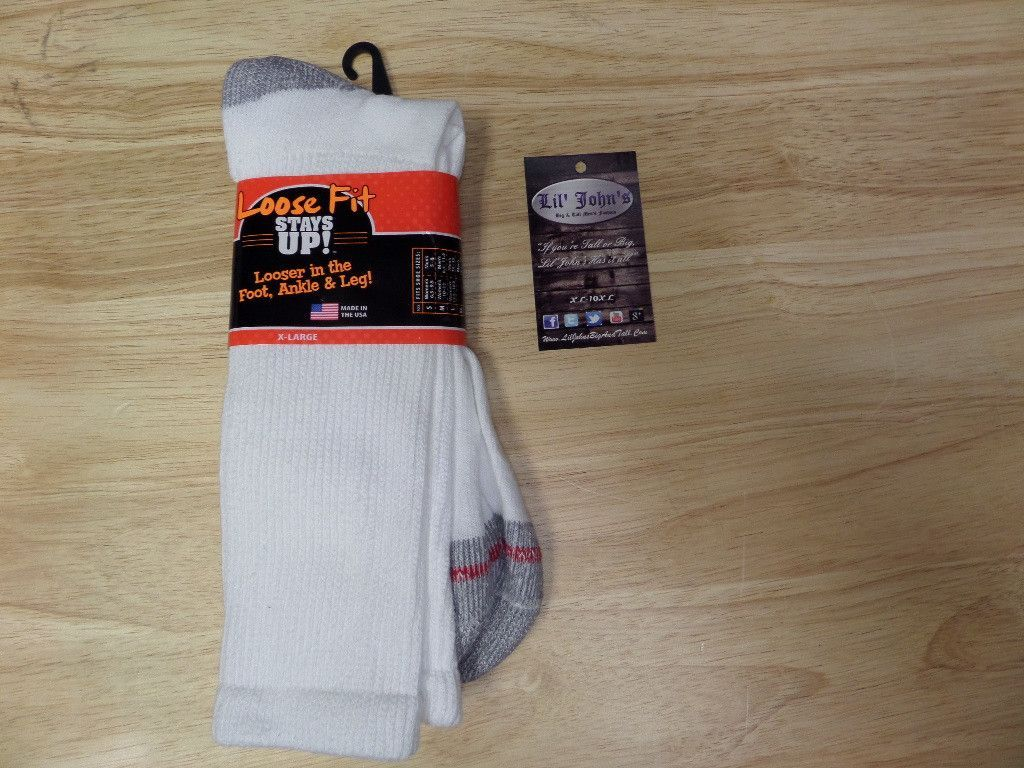 Loose Fit Stay Up Crew Sock