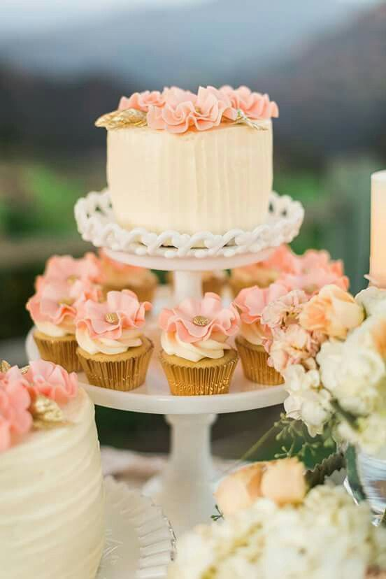 Cute 1 Tier Wedding Cake Lemon With Coral Wedding Cakes With Cupcakes Tiered Wedding Cake Wedding Sweets