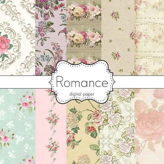 Instant DownloadRomance Romantic Floral Garden by DoucetteDesign