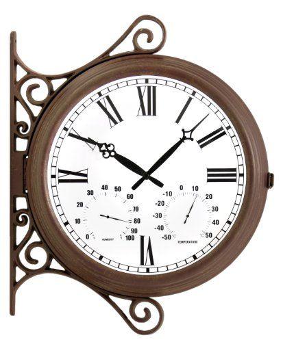 Best Two Sided Outdoor Clocks Outdoor Clock Clock Outdoor Wall Clocks
