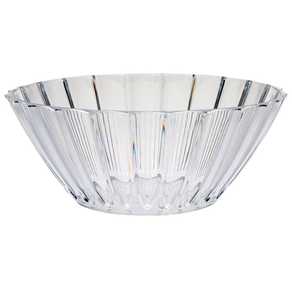 Clear Plastic Fluted Serving Bowls 8 In With Images Bowl