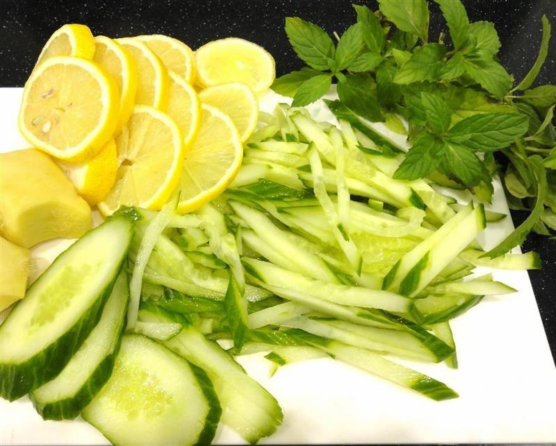 Огурцы с лимоном похудела