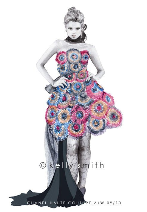 The Mane: THE OTHER SIDE OF FASHION: FASHION ILLUSTRATOR KELLY SMITH