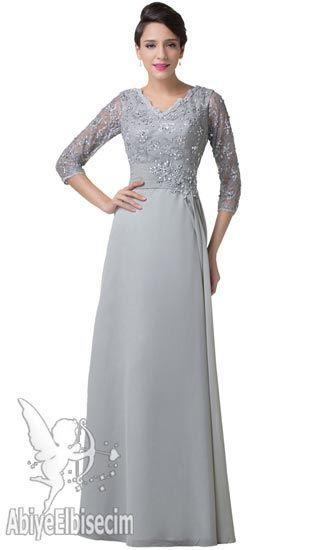 Uzun Abiye Elbise Dantel Tasarim Gri Renk Abiye Elbise Uzun Abiyeler Gece Elbisesi Mezuniyet Elbisesi Dantel Elbise Aksam Elbiseleri The Dress Nedime Giysileri