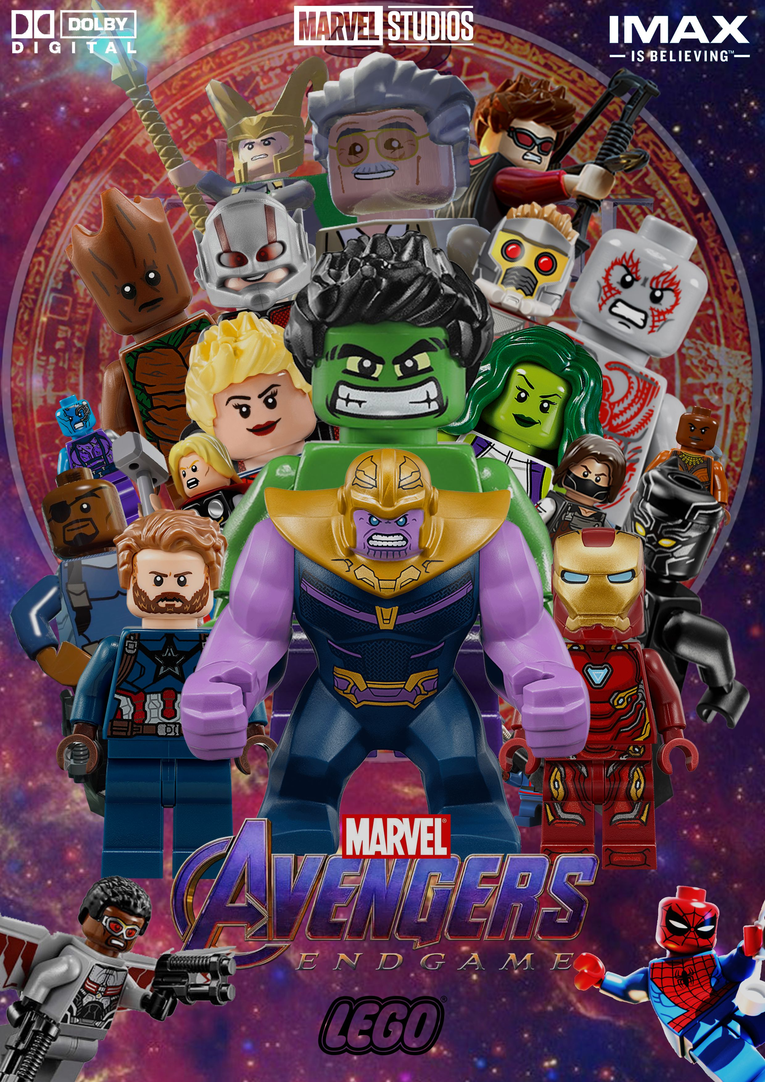 Avengers endgame movie poster lego version designed by