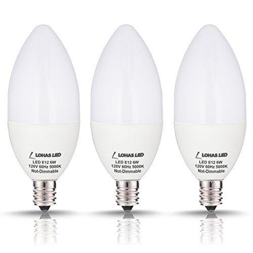 Lohas Candelabra Led Bulbs Led Light Bulbs 60watt Equivalent Daylight 5000k E12 Bulb Base 120volt 550lume Led Candelabra Bulbs Light Bulb Candle Led Light Bulb