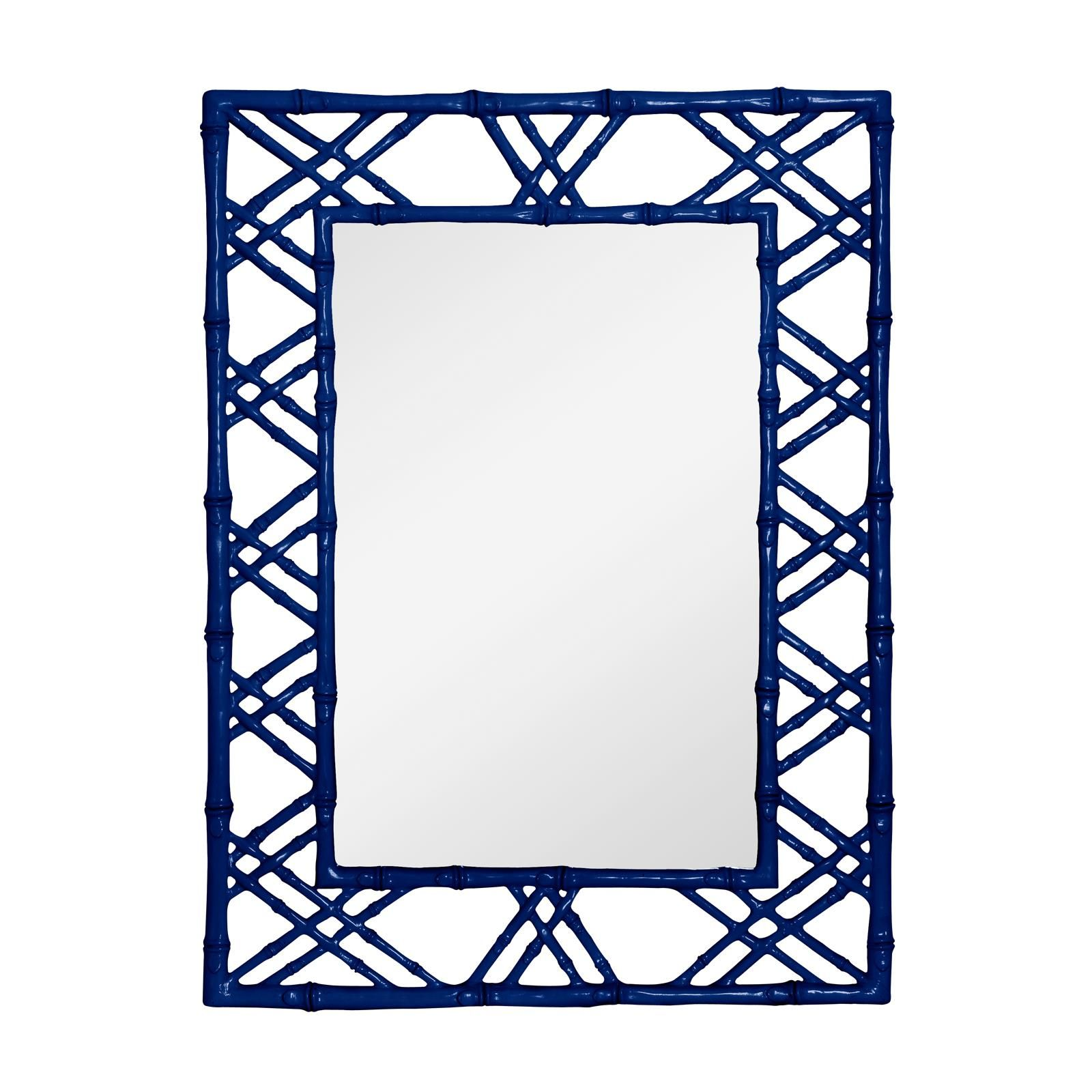 31 W X 40 H 2 D Bungalow 5 Clair Mirror Navy Blue For Wall Above Desk