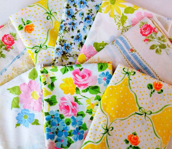 Vintage Floral Pillowcases With Images Floral