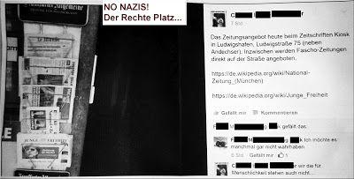 Ma(h)lt sich in diesem Kopf die Welt: NO NAZIS Der Rechte Platz