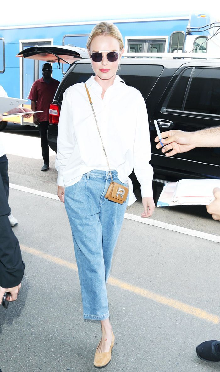 Buh-Bye Skinnies, Kate Bosworths Jeans Are the 1 Airport Option