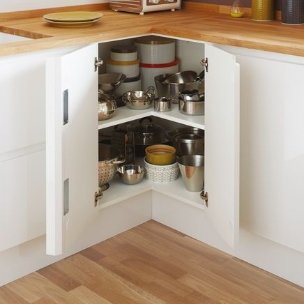 Corner Base Shelf Unit   Kitchen Storage Solutions   Howdens Joinery