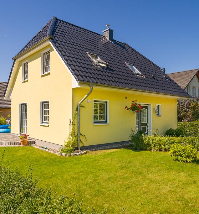 Top Klassisches #Einfamilienhaus mit gelber #Fassade und OW68