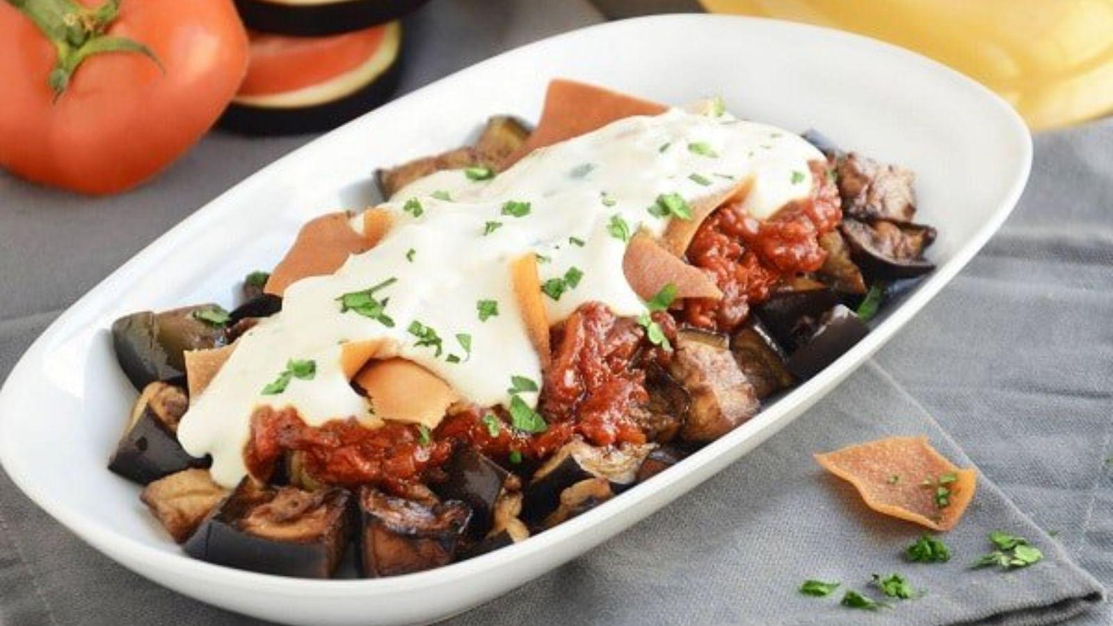 طريقة تحضير فتة الباذنجان التقليدية بلبن الزبادي Food Recipes New Recipes