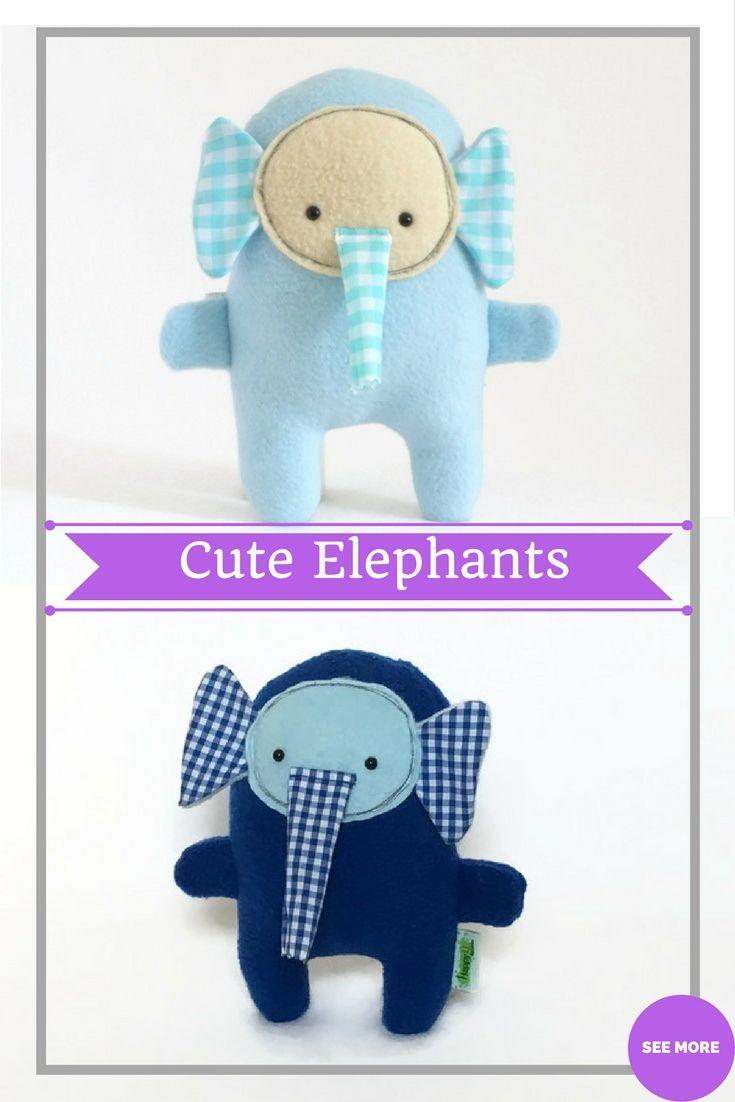 Blue Stuffed Elephant Blue Plush Elephant Elephant Stuffed Animal Plush Toy Baby Shower Gift Birthday Gifts For Boys Elephant Stuffed Animal Elephant Plush