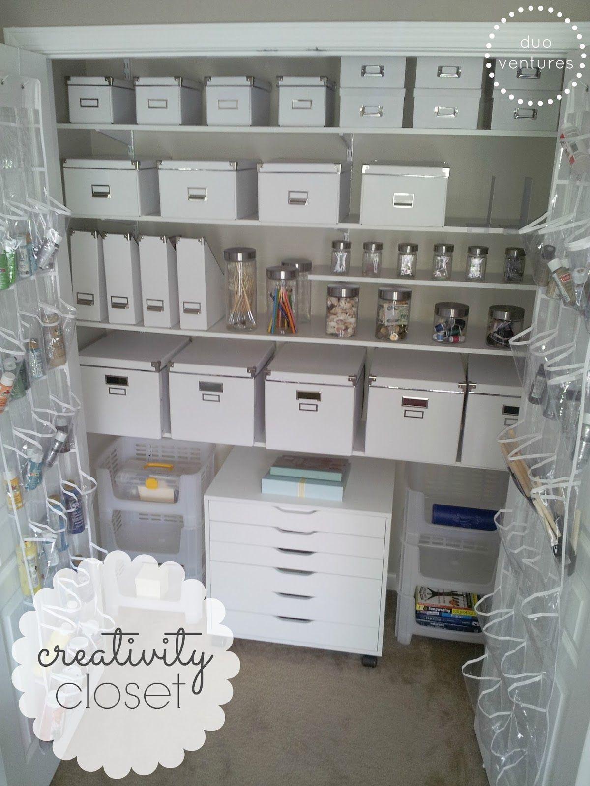 Creativity Closet Makeover Closet Redo Craft Closet