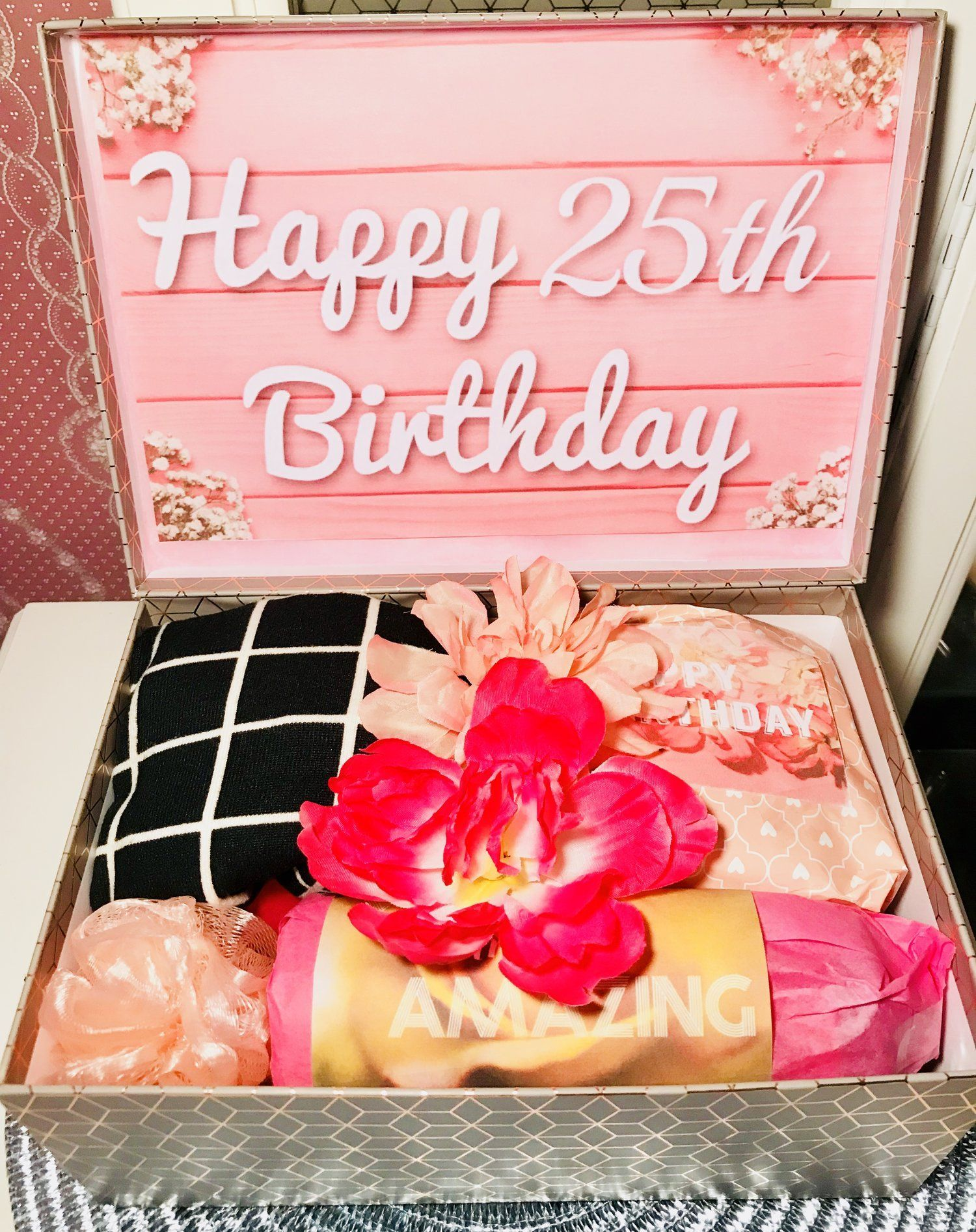 25th Birthday Youarebeautifulbox Care Package For Daughter Friend Gift Youarebeautifulbox 25th Birthday Gifts Birthday Care Packages Happy 25th Birthday