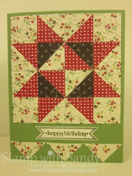 A Quilt For Wendy By Stampwithsandy Cards And Paper Crafts At