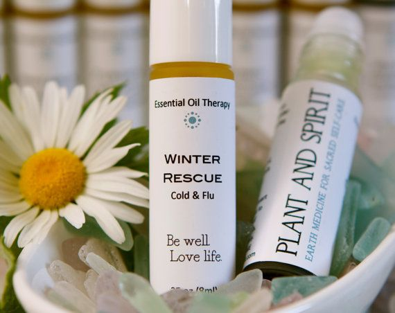 WINTER RESCUE – Cold & Flu essential oil aromatherapy blend. Winter Rescue combines aromatherapy's most powerful antivirals, decongestants, antibacterials, and immune boosters to help you feel better and get better faster.  This is a core remedy that I keep in my medicine cabinet all year round because it works it's very best at the earliest signs of illness - and I wouldn't think of traveling without it. It's a lot of comfort and peace of mind in a little bottle.