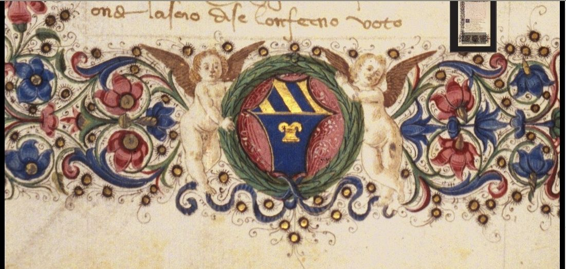 Coat of arms of the house of Carnesecchi. -- Source?