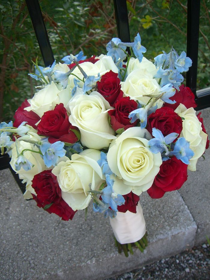 White Wedding Flowers July : Color scheme of my bouquet different flowers though