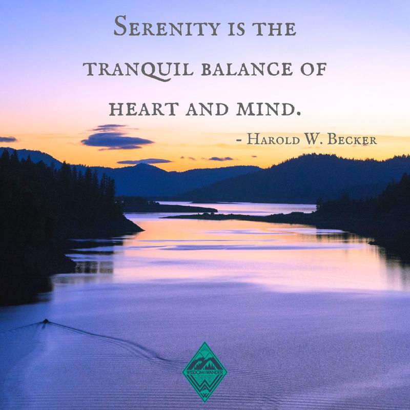 Balance Serenity Balance Tranquil Heart Mind Mountains