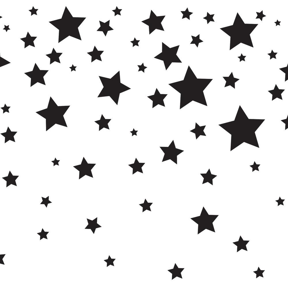 Tempaper Falling Stars White Black Wallpaper Border Tk608 The Home Depot In 2021 Falling Stars Black And White Stars Kids Falling