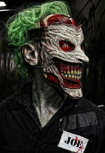 Batman Joker Face Ripped Off Would you be scared if...