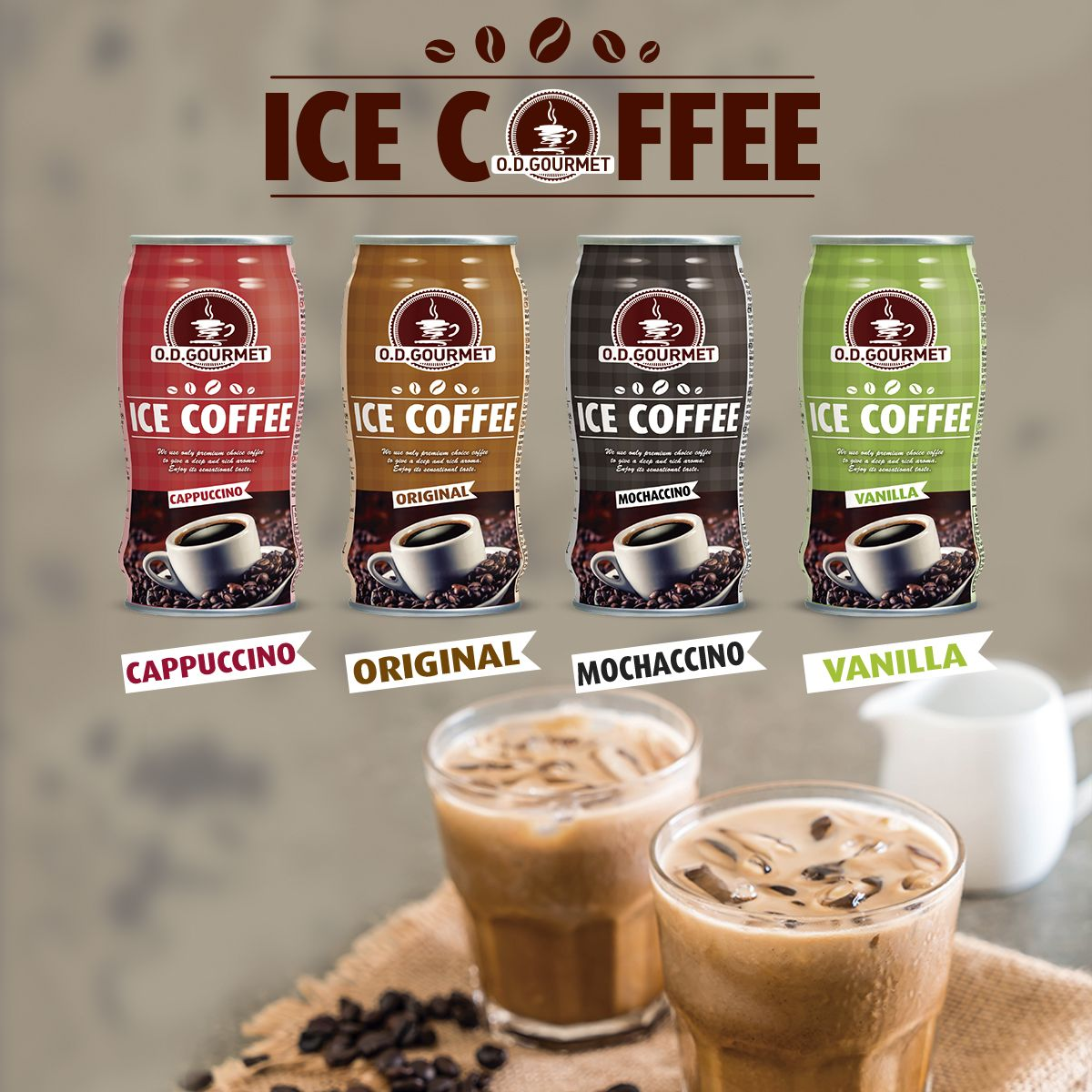 Ice coffee in can