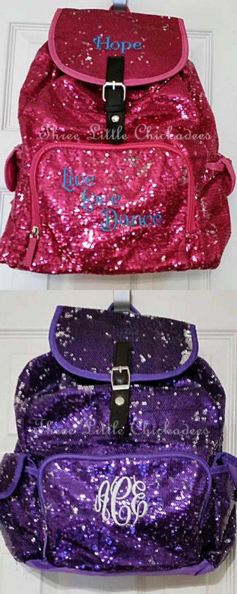 139d23eacca8  34.95. Personalized Sequin Backpack