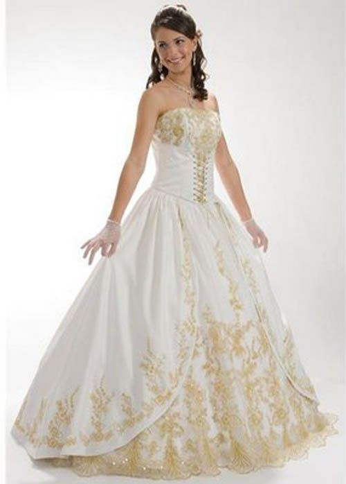 Red and white wedding dress designers