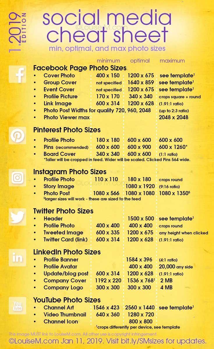 Social Media Cheat Sheet 2021: Must-Have Image Siz