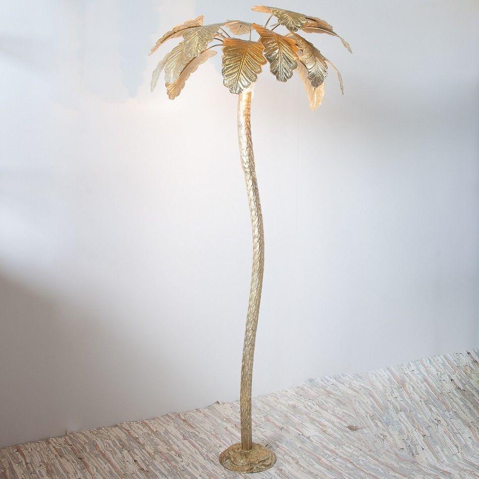 Floor Lamp Palm Tree Large Gold | FURNITURE | Pinterest | Floor lamp ...