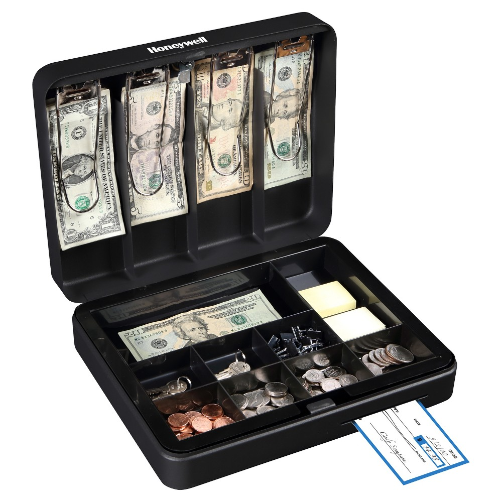 Honeywell Deluxe Steel Cash Box Black Fajne Gadzety Organizacja