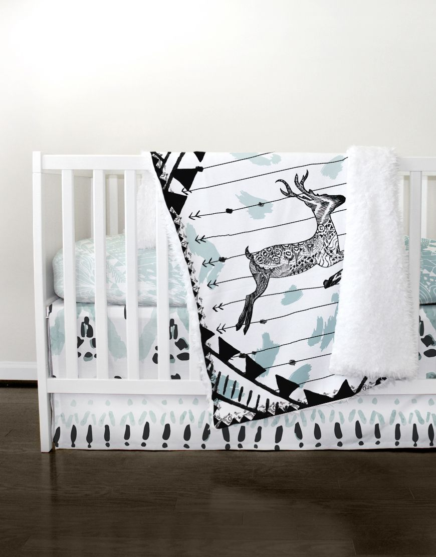Unique Baby Boy Room Ideas: Our Oh Deer Bedding Crib